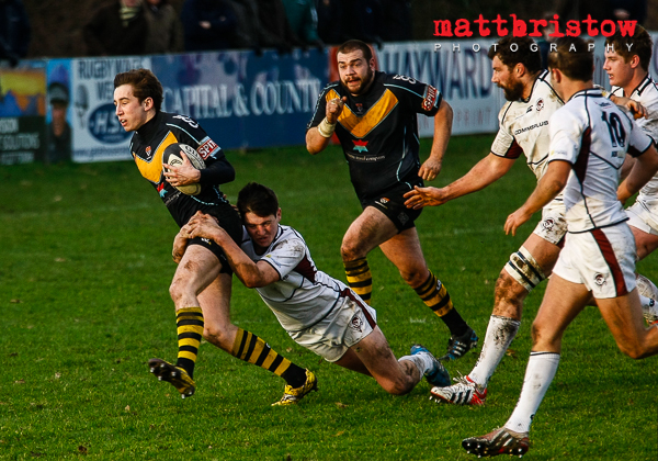 Press Photographer Kent  - Rugby Union Canterbury v Taunton Titans in National 2 South.