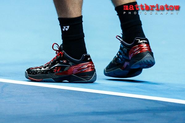 Stanislas Wawrinka personalised shoes