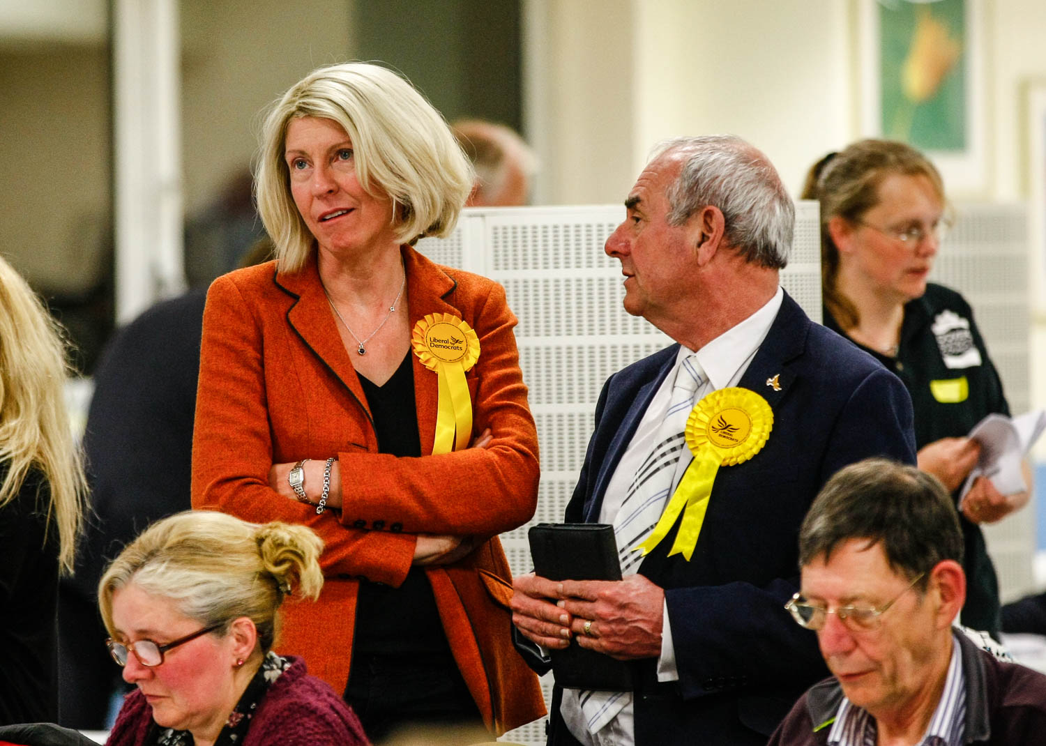 Liberal Democrate candidate Sarah Smith. 2015 General Election. Constituency Results, Dover. (c) MATT BRISTOW | StockPix.eu